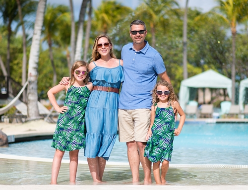 Beautiful Family Photo Shoot at the Hilton Aruba Resort